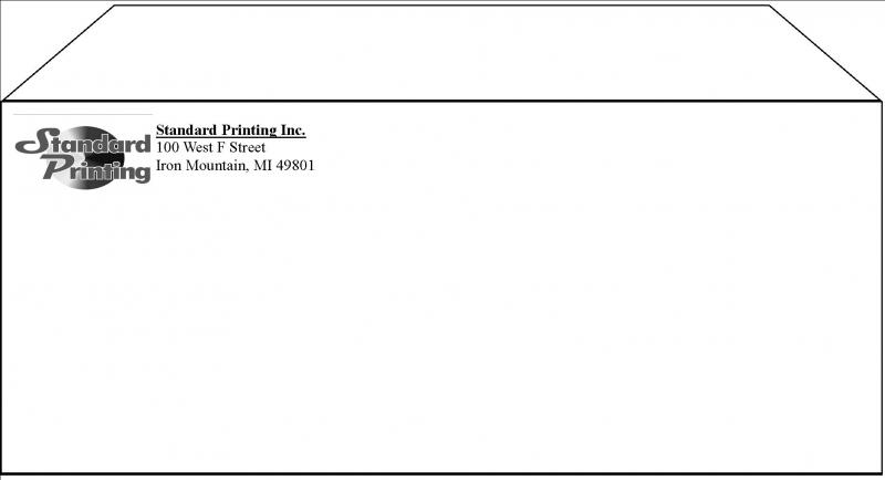 Standard envelope template for Standard window envelope template